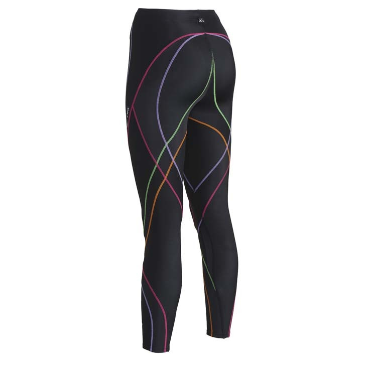 Endurance Pro Tight rainbow achterkant